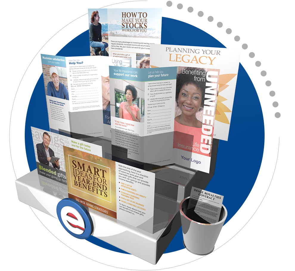 Planned giving newsletter, brochure, ad, insert and guide