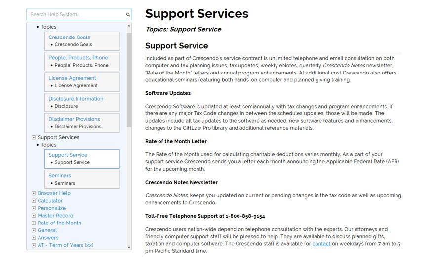 Crescendo Software Support Services